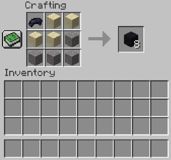 how to make black concrete powder in minecraft