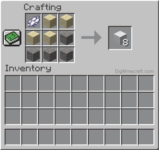 how to make white concrete powder in minecraft